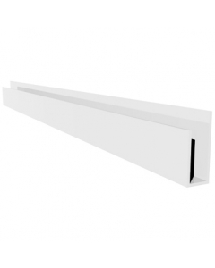Mr Plastic PVC Hygienic Wall Sheet U Channel Trim - 2440mm x 2.5mm