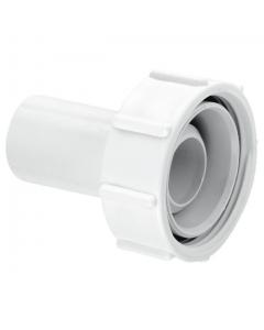 """McAlpine Waste Flow Straight Connector - 1 ½"""" x 19-23mm"""