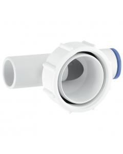 """McAlpine Waste Flow 2 Way Connector - 1 ½"""" x 19-23mm"""