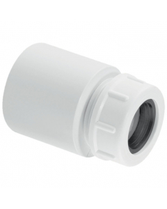 """McAlpine Waste Reducer in ABS - 1 ½"""" Plain Tail to 19-23mm Universal Connection"""