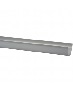 Polypipe 117mm Polyflow Deep Capacity Gutter - 4 Metre - Grey
