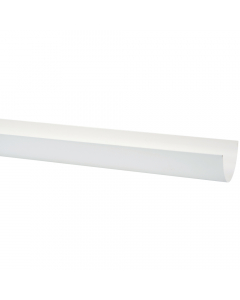 Polypipe 117mm Polyflow Deep Capacity Gutter - 4 Metre - White