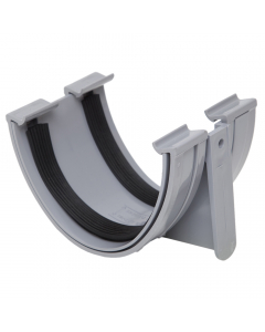 Polypipe 117mm Polyflow Deep Capacity Gutter Union Bracket - Grey