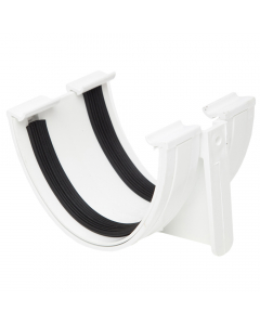 Polypipe 117mm Polyflow Deep Capacity Gutter Union Bracket - White