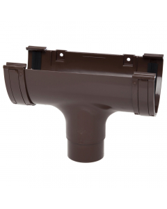 Polypipe 117mm Polyflow Deep Capacity Gutter Running Outlet - Brown