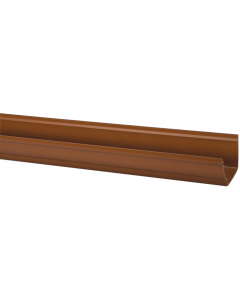 Polypipe 117mm Sovereign High Capacity Gutter - 4 Metre - Oak Brown