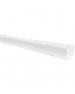 Polypipe 117mm Sovereign High Capacity Gutter - 4 Metre - White