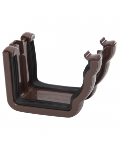 Polypipe 117mm Sovereign High Capacity Gutter Union Bracket - Brown