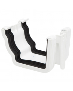 Polypipe 117mm Sovereign High Capacity Gutter Union Bracket - White