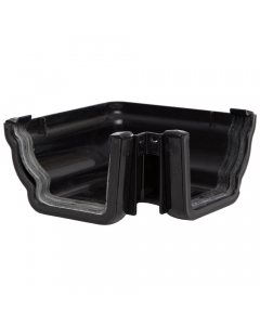 Polypipe 117mm Sovereign High Capacity Gutter 90 Degree External Angle - Black