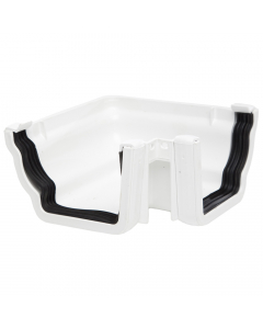 Polypipe 117mm Sovereign High Capacity Gutter 90 Degree External Angle - White