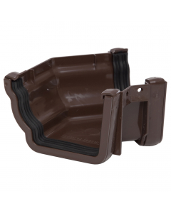 Polypipe 117mm Sovereign High Capacity Gutter 135 Degree External Angle - Brown