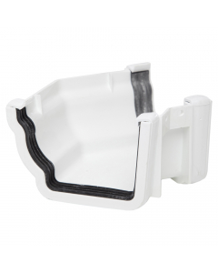 Polypipe 117mm Sovereign High Capacity Gutter 135 Degree External Angle - White