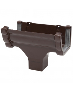 Polypipe 117mm Sovereign High Capacity Gutter Running Outlet - Brown