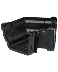 Polypipe 117mm Sovereign High Capacity Gutter 120 Degree External Angle (Fabricated) - Black