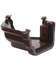 Polypipe 117mm Sovereign High Capacity Gutter 120 Degree External Angle (Fabricated) - Brown