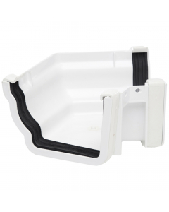 Polypipe 117mm Sovereign High Capacity Gutter 120 Degree External Angle (Fabricated) - White