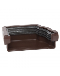 Polypipe 117mm Sovereign High Capacity Gutter Left Hand External Stopend - Brown