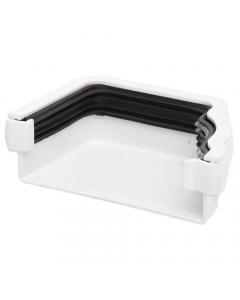 Polypipe 117mm Sovereign High Capacity Gutter Left Hand External Stopend - White