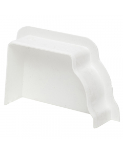 Polypipe 117mm Sovereign High Capacity Gutter Left Hand Internal Stopend - White