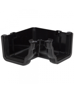 Polypipe 117mm Sovereign High Capacity Gutter 90 Degree Internal Angle - Black