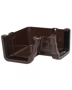 Polypipe 117mm Sovereign High Capacity Gutter 90 Degree Internal Angle - Brown