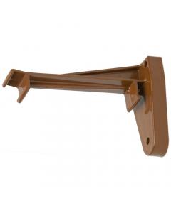 Polypipe 117mm Sovereign High Capacity Gutter Ogee Top Hanger Fascia Bracket - Oak Brown