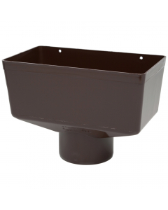 Polypipe 110mm Large Round Down Pipe Hopper Head - Brown
