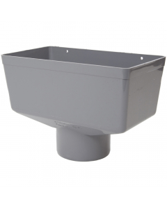 Polypipe 110mm Large Round Down Pipe Hopper Head - Grey
