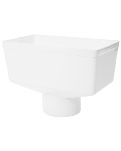 Polypipe 110mm Large Round Down Pipe Hopper Head - White
