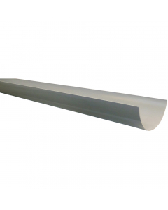 Polypipe 150mm Large Half Round Gutter - 4 Metre - Grey