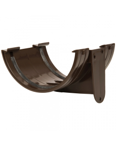 Polypipe 150mm Large Half Round Gutter Union Bracket - Brown