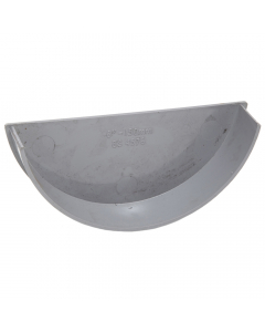 Polypipe 150mm Large Half Round Gutter Internal Stopend - Grey
