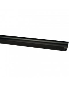 Polypipe 75mm Mini Half Round Gutter - 2 Metre - Black