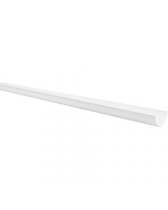 Polypipe 75mm Mini Half Round Gutter - 2 Metre - White