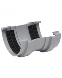 Polypipe 75mm Mini Half Round Gutter Union Bracket - Grey