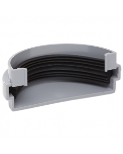 Polypipe 75mm Mini Half Round Gutter External Stopend - Grey