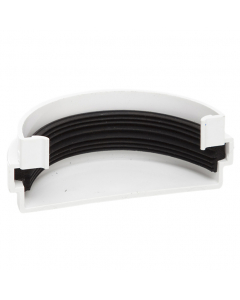 Polypipe 75mm Mini Half Round Gutter External Stopend - White