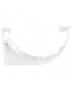 Polypipe 75mm Mini Half Round Gutter Fascia Bracket - White