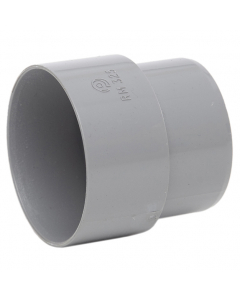 Polypipe 50mm Mini Round Down Pipe Connector - Grey