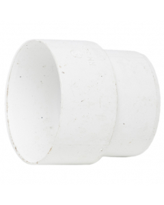 Polypipe 50mm Mini Round Down Pipe Connector - White