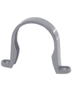 Polypipe 50mm Mini Round Down Pipe Clip - Grey