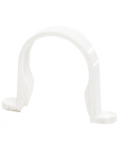 Polypipe 50mm Mini Round Down Pipe Clip - White