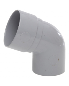 Polypipe 50mm Mini Round Down Pipe 112.5 Degree Offset Bend - Grey