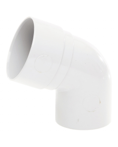 Polypipe 50mm Mini Round Down Pipe 112.5 Degree Offset Bend - White