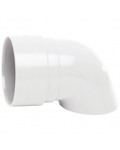 Polypipe 50mm Mini Round Down Pipe Shoe - White