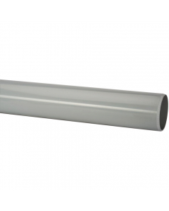 Polypipe 50mm Mini Round Down Pipe - 2 Metre - Grey