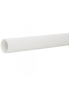 Polypipe 50mm Mini Round Down Pipe - 2 Metre - White