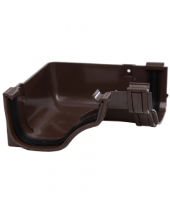 Polypipe 130mm Ogee Extra Capacity Gutter 90 Degree Internal Angle - Brown