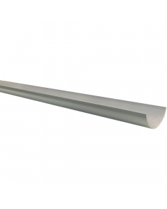 Polypipe 112mm Half Round Gutter - 4 Metre - Grey